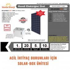 1KW Acil Hazır Solar Paket